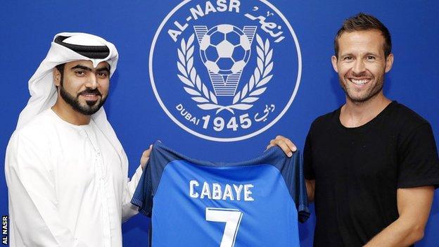 Yohan Cabaye with an Al Nasr shirt