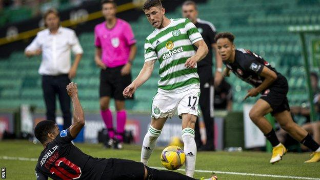 The attacking midfielder was Celtic's main creative force and put in a tireless shift