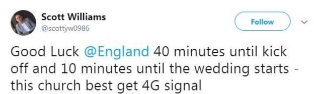 England fan tweet