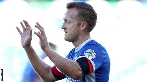 Sammy Clingan in action for Linfield last season
