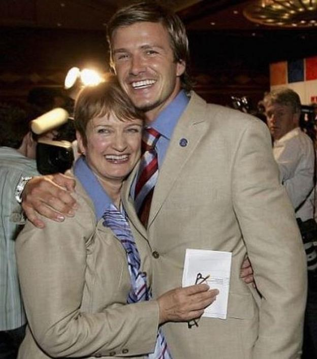 Dame Tessa Jowell and David Beckham