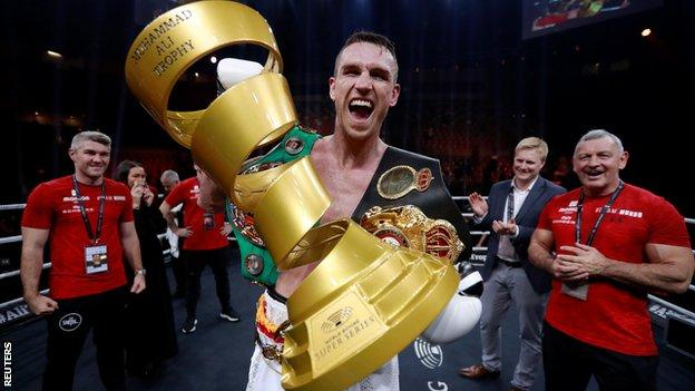 Smith takes home the Muhammad Ali Trophy for claiming the World Boxing Super Series
