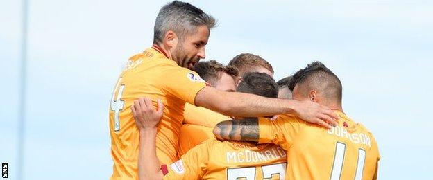 Wes Fletcher's debut goal gave Motherwell all three points