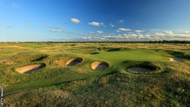 A general view of the 16th hole at the Royal St George's Golf Club in Kent