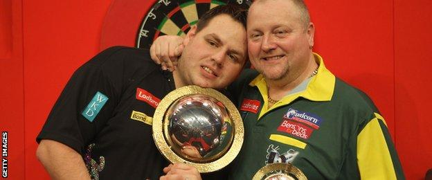 Adrian Lewis and Andy Hamilton