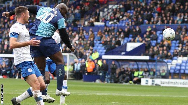 Adebayo Akinfenwa scores
