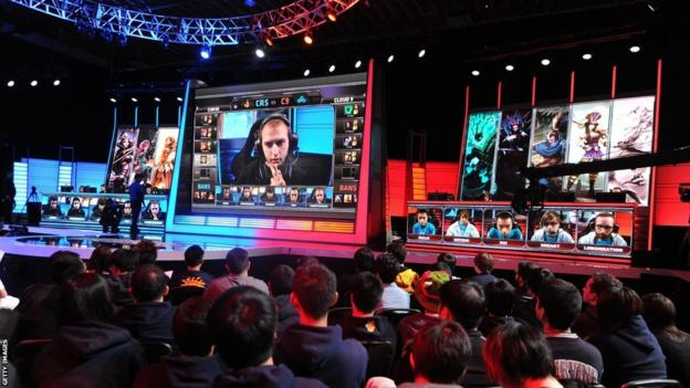 eSports competition taking place