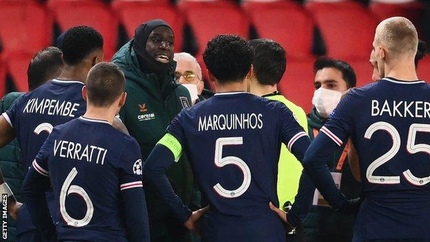 Image result for PSG v Istanbul Basaksehir: Uefa opens proceedings against officials after racism allegations