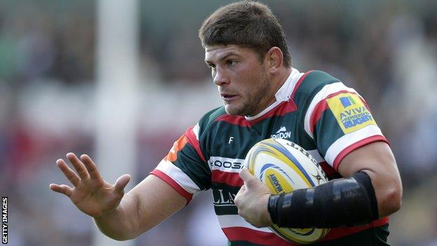 Leicester flanker Mike Williams