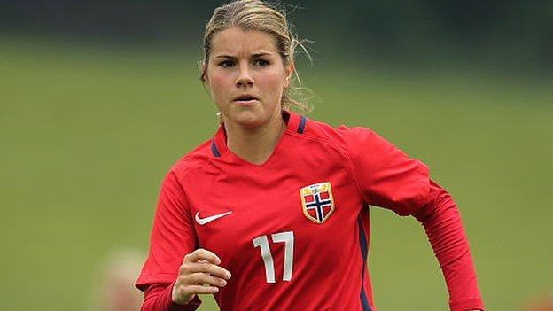 Andrine Hegerberg made her senior international debut for Norway at just 18 against Sweden in 2012.