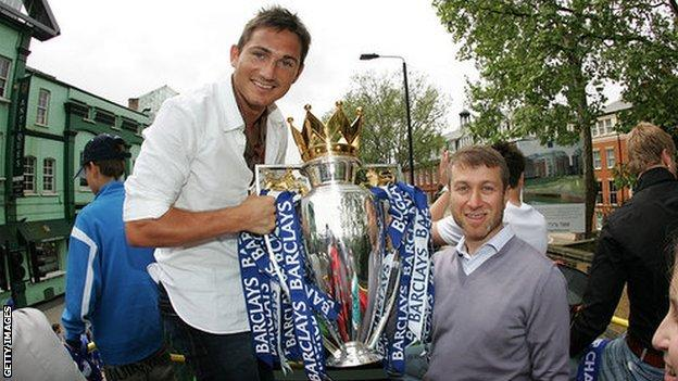 Frank Lampard and Roman Abramovich