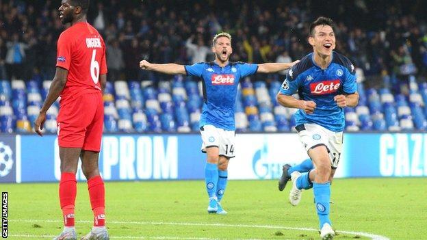 Napoli forward Hirving Lozano