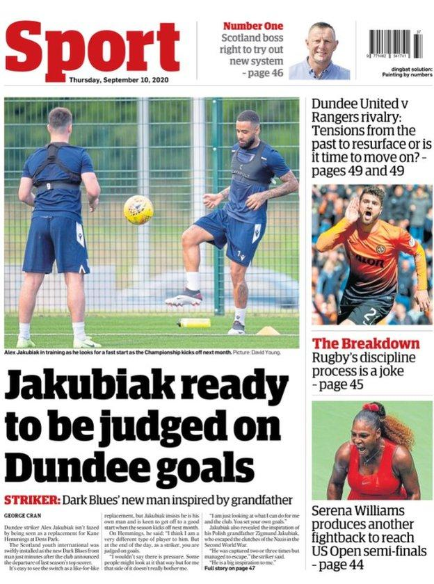 Courier Back page