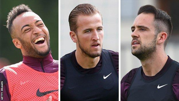 Nathan Redmond, Harry Kane and Danny Ings