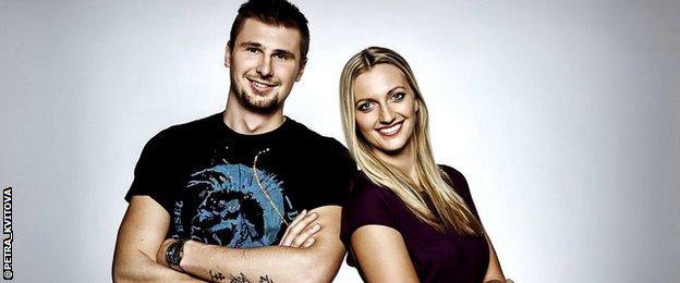 Radek Meidl and Petra Kvitova