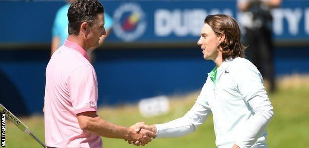 English golf players Justin Rose and Tommy Fleetwood