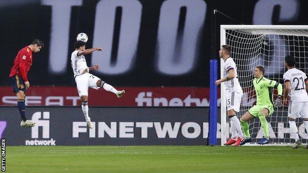Alvaro Morata, İspanya'nın Milletler Ligi'nde Almanya'ya karşı ilk golünü eve götürdü