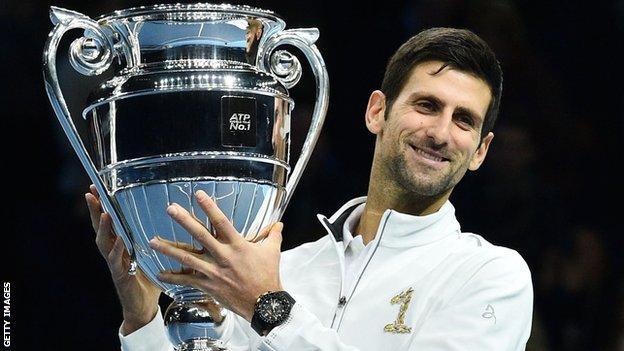 Novak Djokovic with trophy