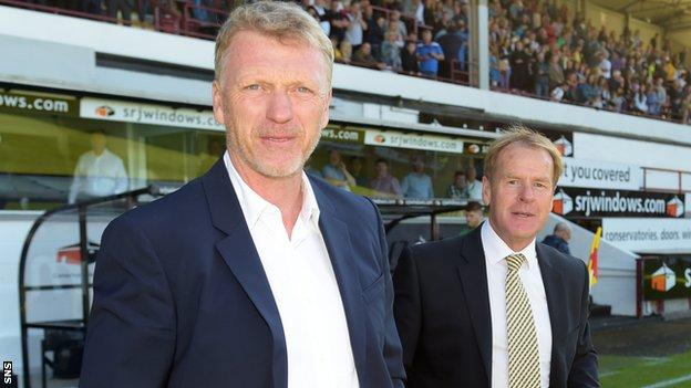David Moyes was at Dunfermline's East End Park for a Jock Stein charity match