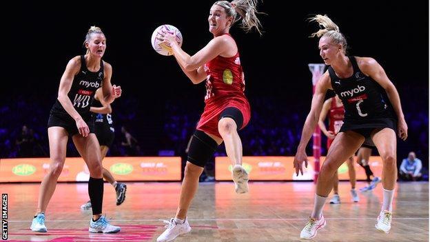 Natalie Haythornthwaite catches the ball