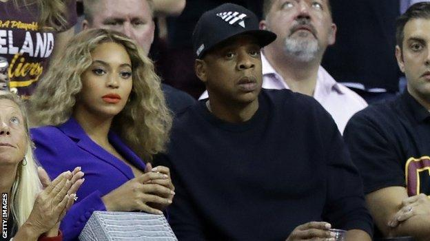 Jay Z and Beyonce were in the crowd at the Q Arena
