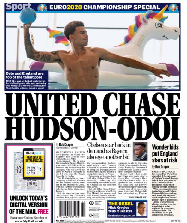 The Express claim Manchester United want Callum Hudson-Odoi