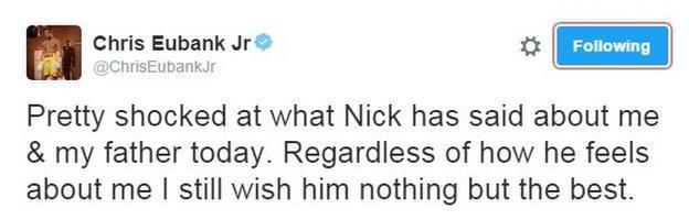 Chris Eubank Jr tweeted on Monday