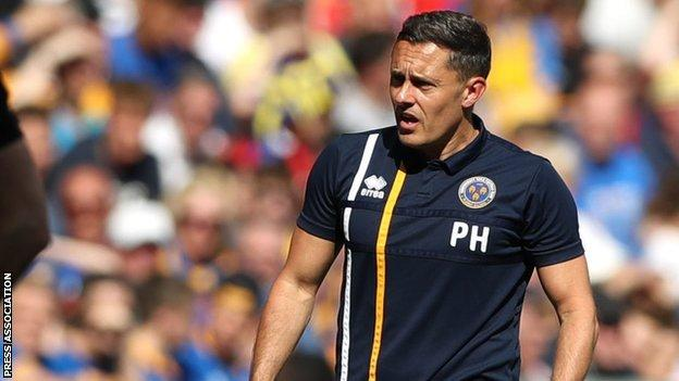 Paul Hurst took Shrewsbury Town to Wembley twice in seven weeks last season - but they lost both times