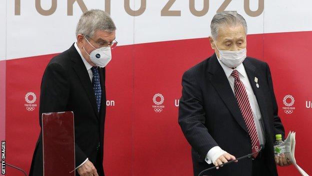 IOC president Thomas Bach and Tokyo 2020 president Mori Yoshiro