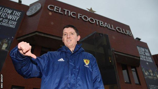 Referee Craig Thomson had to postpone Celtic's clash with Hamilton after heavy rainfall
