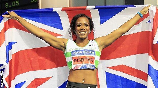 British hurdler Tiffany Porter