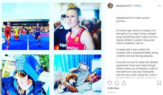 An Instagram post explaining about Danson's injury
