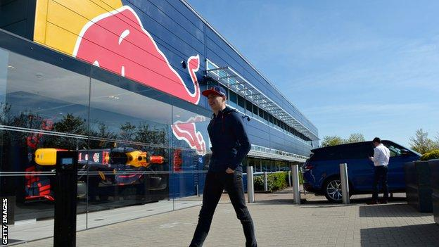 Max Verstappen at the Red Bull factory