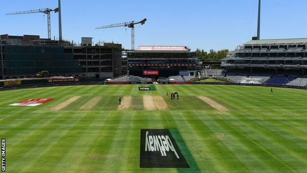 The pitch at Newlands