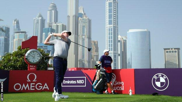 Robert MacIntyre at the Dubai Desert Classic