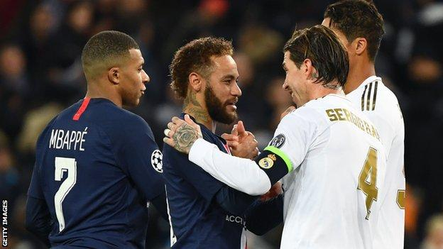 PSG and Real Madrid players