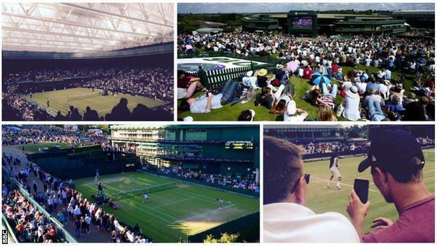 Courts at Wimbledon