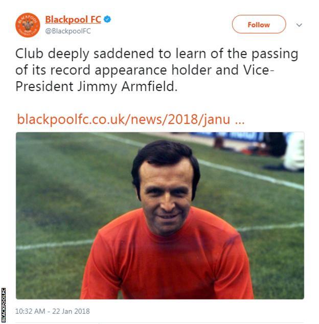Blackpool FC tweet