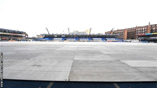 The transformation of Cardiff Arms Park after it became a supporting base for the Dragon's Heart Hospital at the Principality Stadium