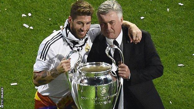Carlo Ancelotti and Sergio Ramos