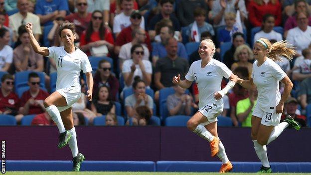New Zealand score against England