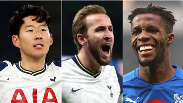 Son Heung-min (Tottenham), Harry Kane (Tottenham), Wilfried Zaha (Kristal Saray)
