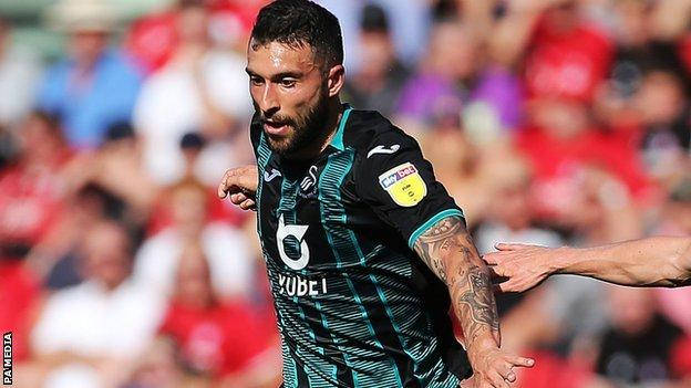Only one of Swansea top scorer Borja Baston's six goals this season has come away from home
