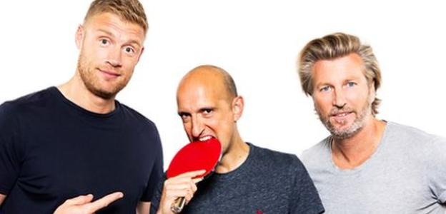 Andrew Flintoff, Matthew Syed and Robbie Savage
