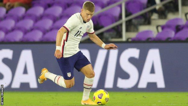 Chris Mueller scored twice on his USA debut against El Salvador last year
