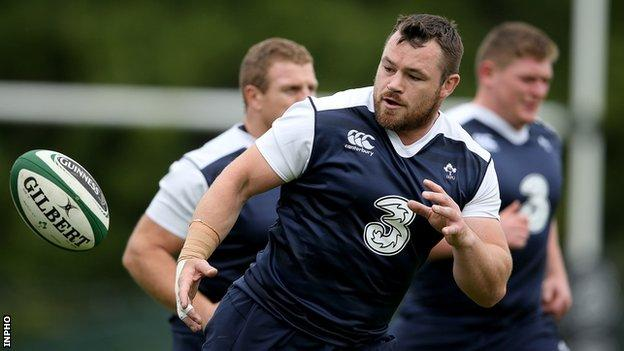 Cian Healy has been stepping up his training in recent weeks