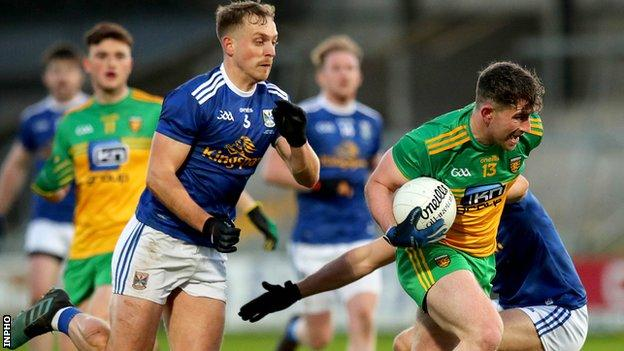 Patrick McBrearty goes on a run for Donegal