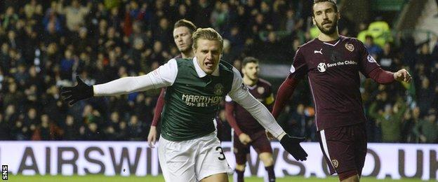 Jason Cummings scored the only goal as Hibs saw off Hearts last season in the Scottish Cup