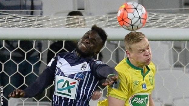 Lamine Sane in action against Nantes in the French Cup