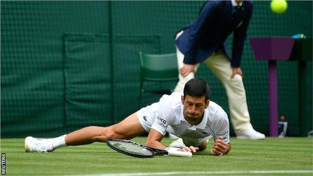 Novak Djokovic slips